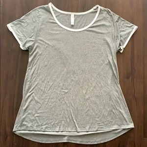 Lularoe solid gray classic t tee large L women's